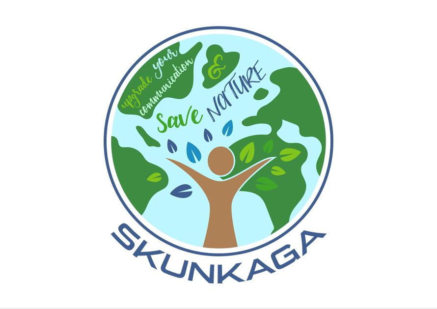 Dizajn loga pre appku Skunkaga